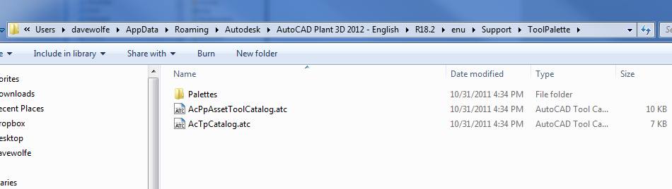 Sharing Tool Palettes on a network for AutoCAD P&IDProcess