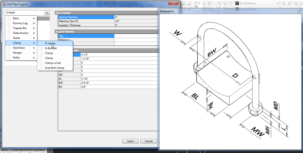 Creating a Custom Support in AutoCAD Plant 3DProcess Design, from