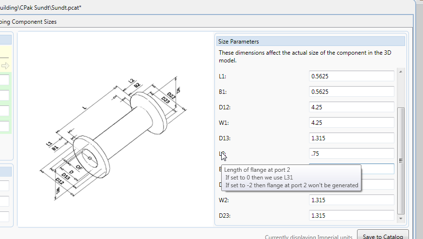 Dimensions Tip for the AutoCAD Plant 3D Spec EditorProcess Design