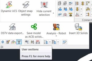 user sections command