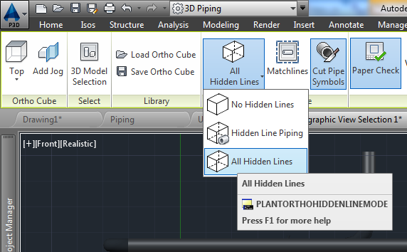 Displaying Under Ground Piping in AutoCAD Plant 3DProcess