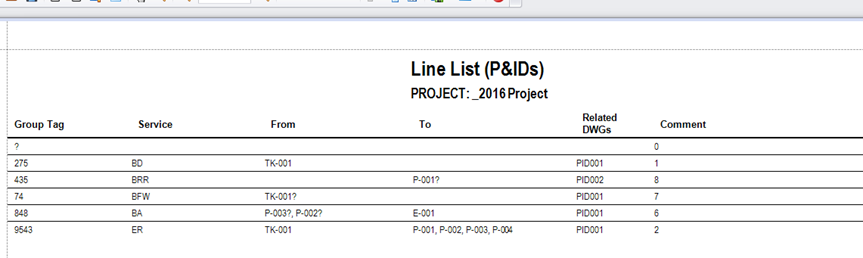 Automatic Line Lists from AutoCAD P&IDProcess Design, from