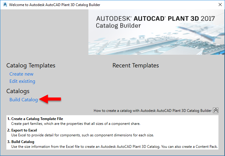 Extracting a catalog from Specs in Plant 3DProcess Design