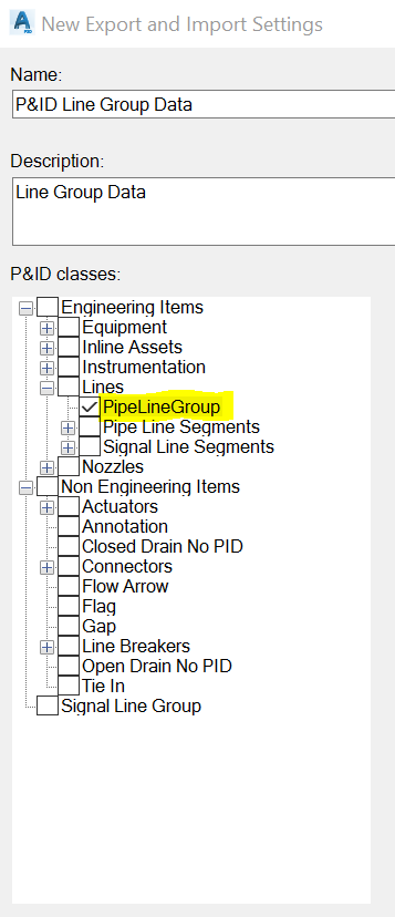 How to Import/Export Line Group Data into my P&ID or Plant