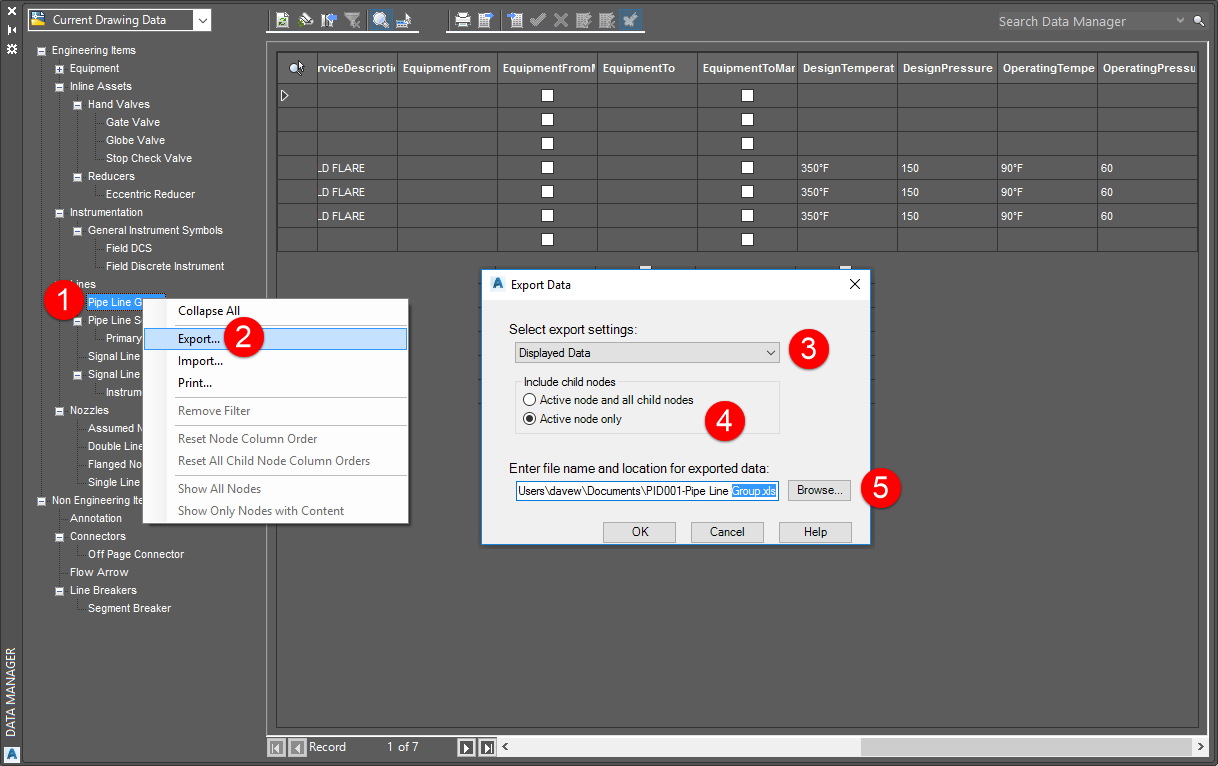 Standardizing Data with AutoCAD P&IDProcess Design, from the